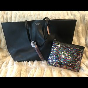 Victoria's Secret Bag with Sparkly Pouch included.